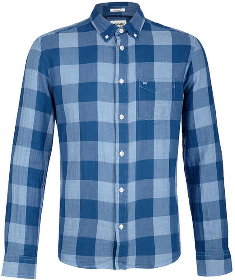 Рубашка мужская Wrangler, цвет: синий. W5874OQUV. Размер XXL (54)