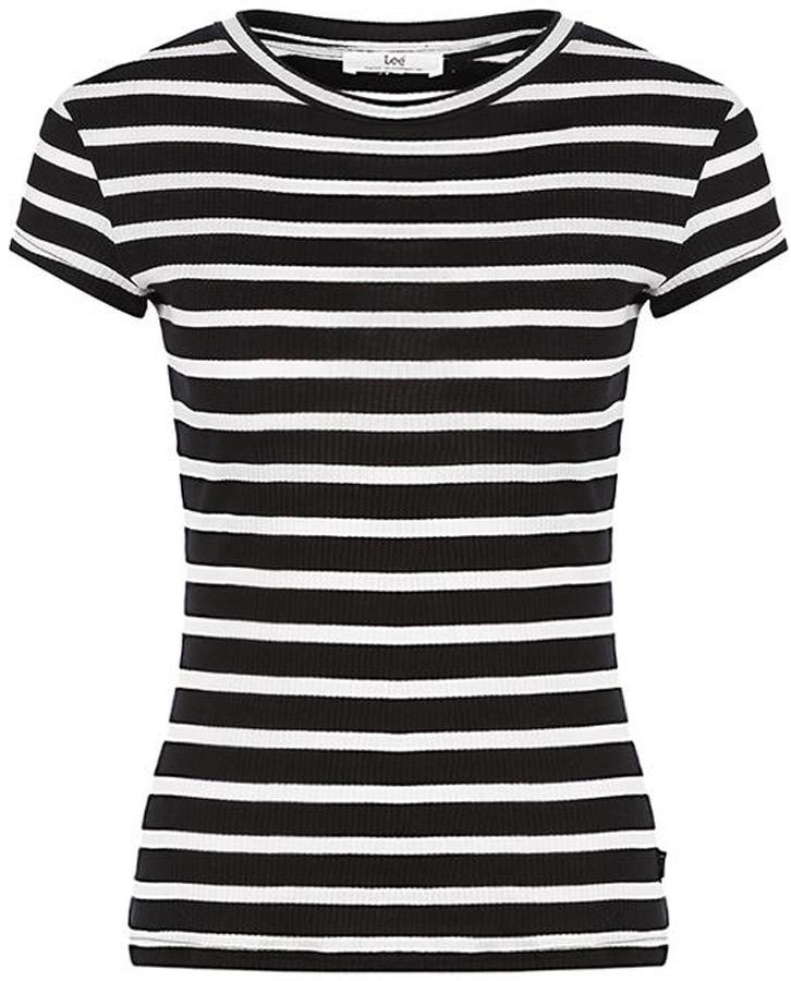 Футболка женская Lee, цвет: белый, черный. L41ERWEH. Размер XS (40) футболка женская lee цвет белый черный l41erweh размер xs 40
