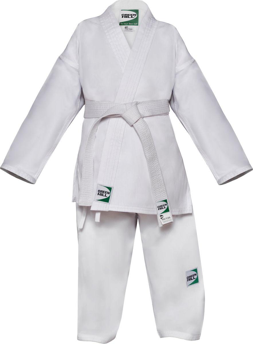 Кимоно детское для карате Green Hill Junior, цвет: белый. KSJ-10054. Размер 140