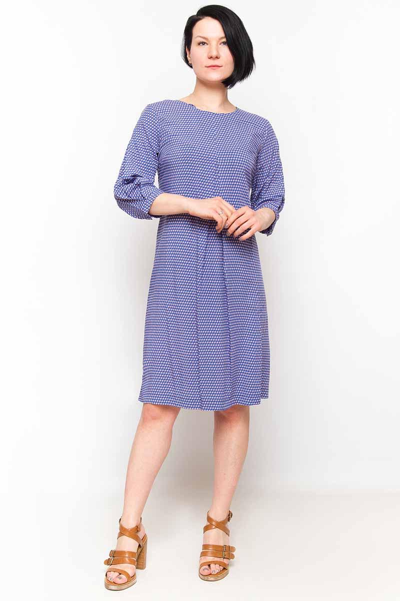 Платье Finn Flare, цвет: голубой. B18-11048_119. Размер S (44)B18-11048_119