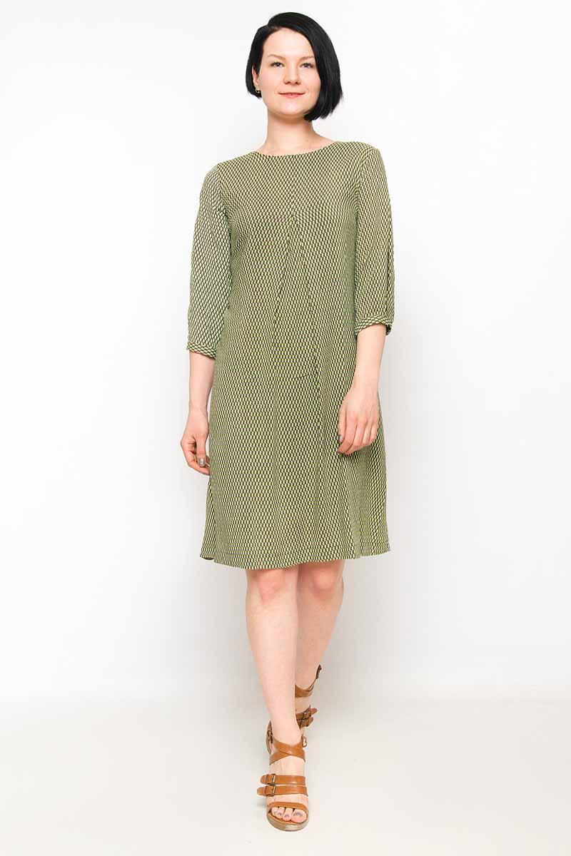 Платье Finn Flare, цвет: темно-зеленый. B18-11048_511. Размер M (46)B18-11048_511