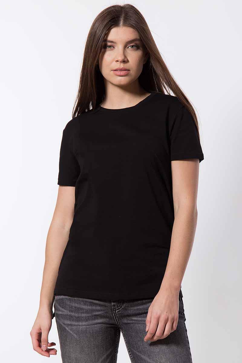 Футболка женская Finn Flare, цвет: черный. B18-11095_200. Размер L (48)B18-11095_200