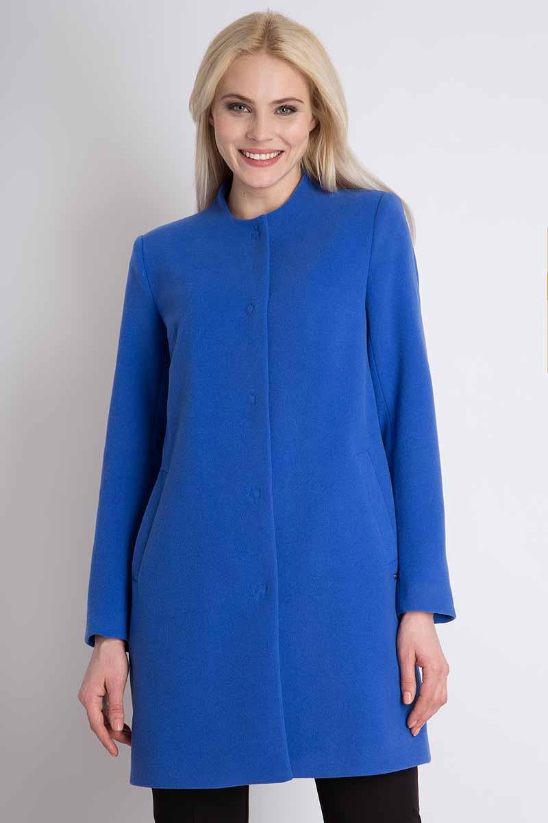 Пальто женское Finn Flare, цвет: синий. B18-12000_103. Размер M (46) пальто
