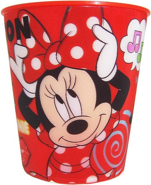 """Стакан Disney """"Минни"""" - удобен и безопасен, так как материал, из которого он сделан, не бьется. Изделие декорировано красочным изображением любимых мультипликационных героев, что обязательно понравится малышу и сделает его стакан самым любимым."""