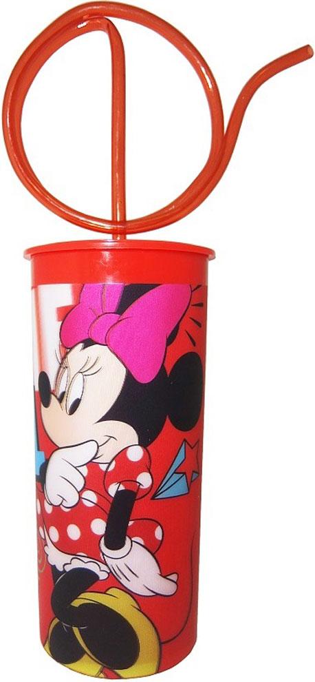 Disney Стакан детский Минни с крышкой и витой трубочкой 330 мл стоимость