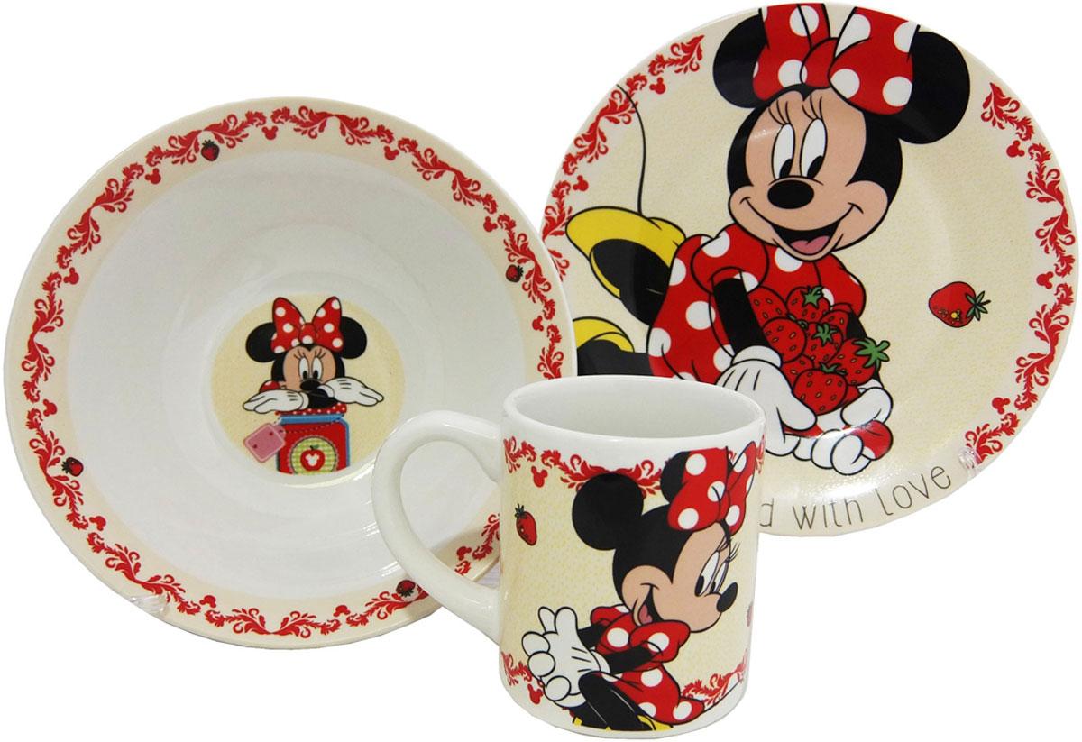 Disney Набор детской посуды Минни 3 предмета
