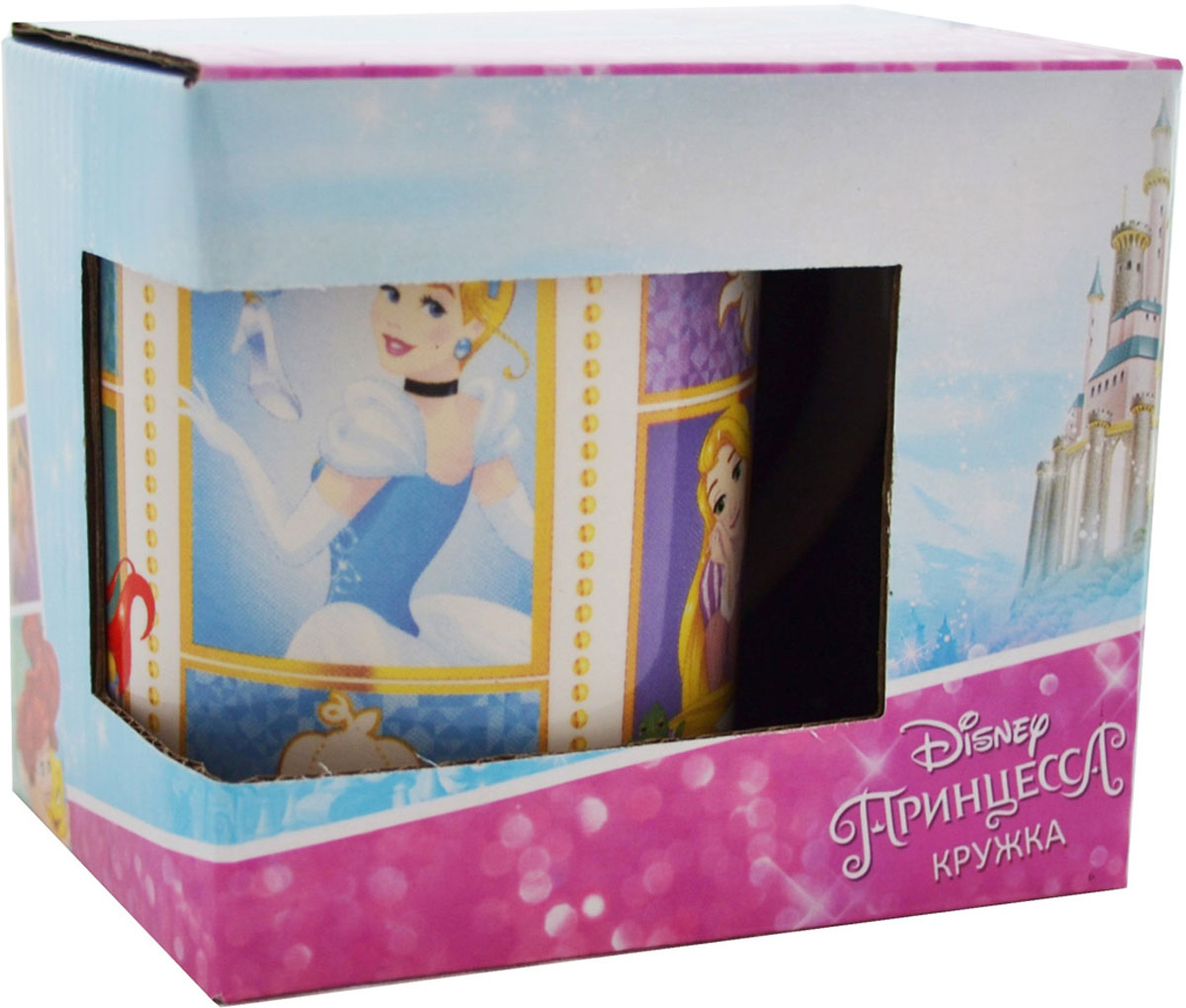 """Детская кружка Disney """"Принцесса Будь собой!"""" станет отличным подарком для вашего ребенка. Она выполнена из керамики и оформлена изображением из диснеевских мультфильмов. Кружка дополнена удобной ручкой. Такой подарок станет не только приятным, но и практичным сувениром: кружка будет незаменимым атрибутом чаепития, а оригинальное оформление кружки добавит ярких эмоций и хорошего настроения."""