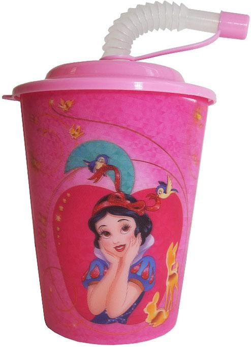 Disney Стакан детский Принцессы с крышкой и трубочкой 400 млDPPT400-1