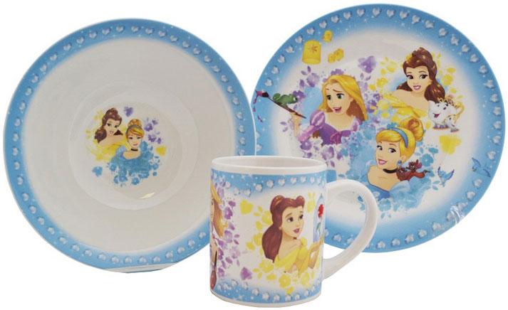 Disney Набор детской посуды Принцессы 3 предмета в подарочной упаковкеDPS3-1