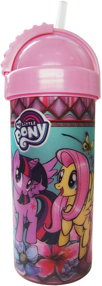 Hasbro Фляга детская My Little Pony с крышкой и трубочкой 400 мл