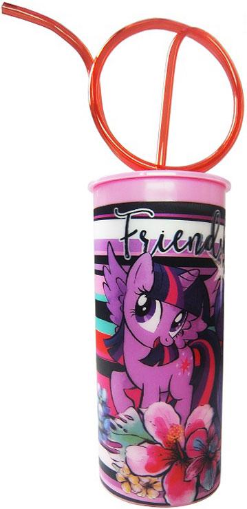Hasbro Стакан детский My Little Pony с крышкой и витой трубочкой 330 млMLPT330-1Высокое качество и яркий дизайн детского стакана Hasbro My Little Pony оценят и дети и взрослые.