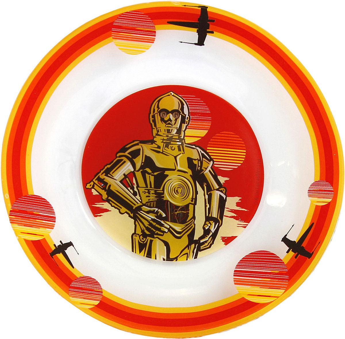 StarWars Тарелка детская Звёздные Войны Роботы диаметр 19,5 см starwars тарелка детская звёздные войны дарт вейдер диаметр 19 5 см