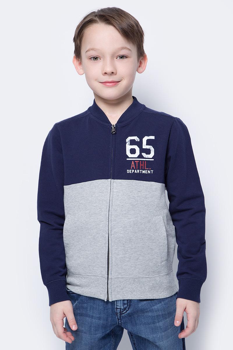 Толстовка для мальчиков United Colors of Benetton, цвет: синий. 3CY4C5380_13C. Размер 1503CY4C5380_13C
