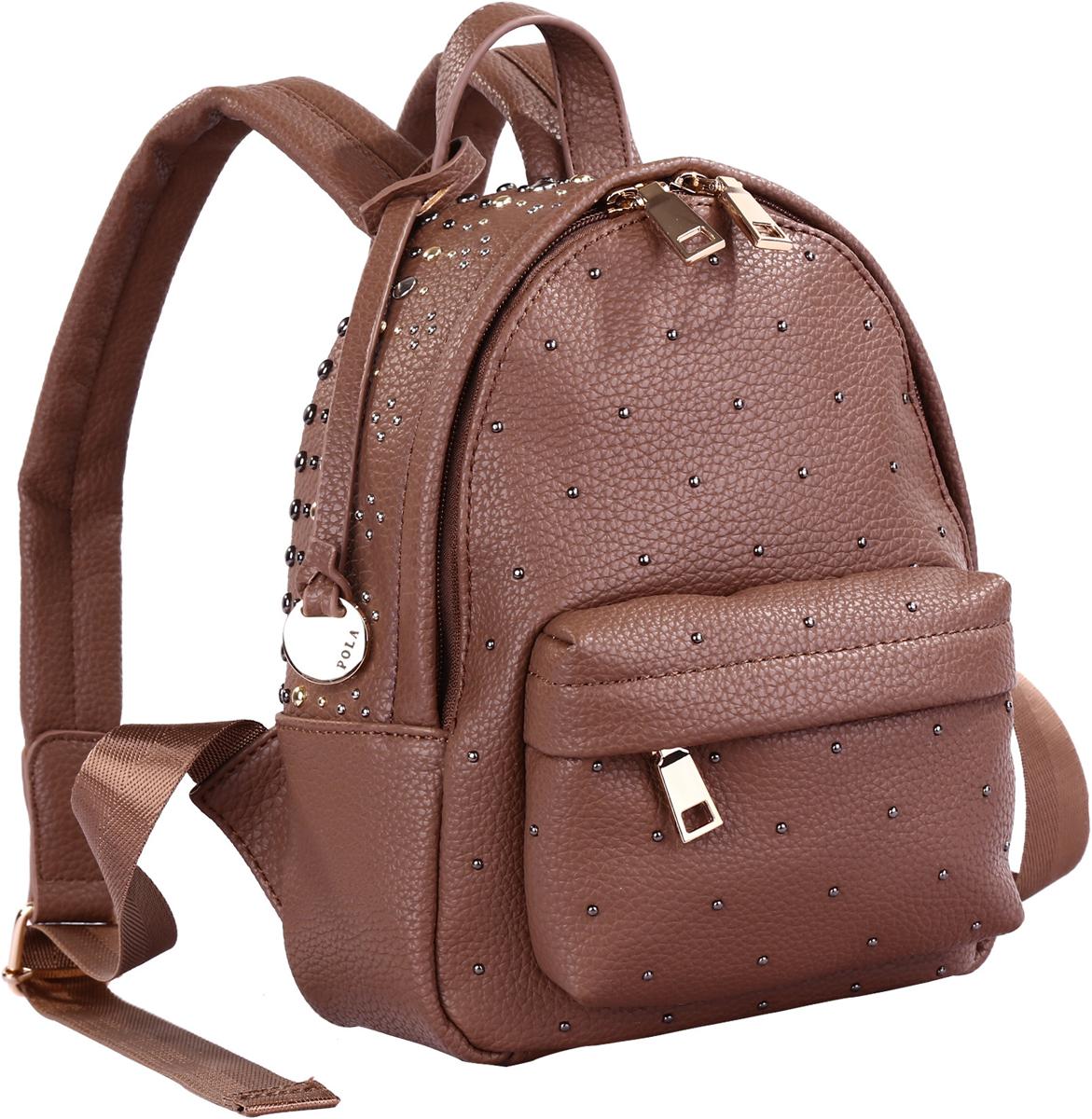Рюкзак женский Pola, цвет: коричневый. 74521