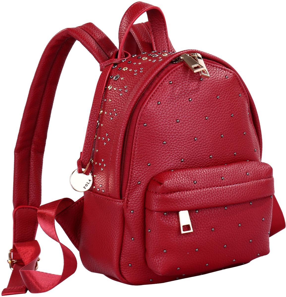 Рюкзак женский Pola, цвет: красный. 74521