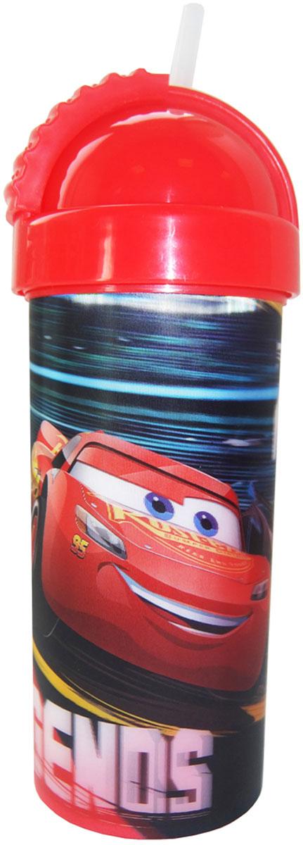 Disney Фляга детская Тачки 3 с крышкой и трубочкой 400 мл