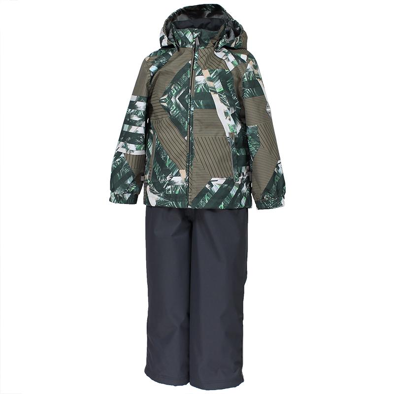 Комплект верхней одежды детский Huppa Yoko, цвет: зеленый, темно-серый. 41190014-82307. Размер 11041190014-82307Комплект YOKO. Размер 80-122. Водо и воздухонепроницаемость 5 000 вверх / 10 000 низ. Состав: Ткань 100% полиэстер, Подкладка тафта 100% полиэстер. Утеплитель: Куртка 100 гр, брюки 40 гр. Отличительные особенности: Швы проклеены, Отстегивающийся капюшон, Капюшон на резинке, Манжеты рукавов на резинке, Регулируемые низы, Эластичный шнур+фиксатор, Без внутренних швов, Резиновые подтяжки. Присутствуют светоотражательные детали.