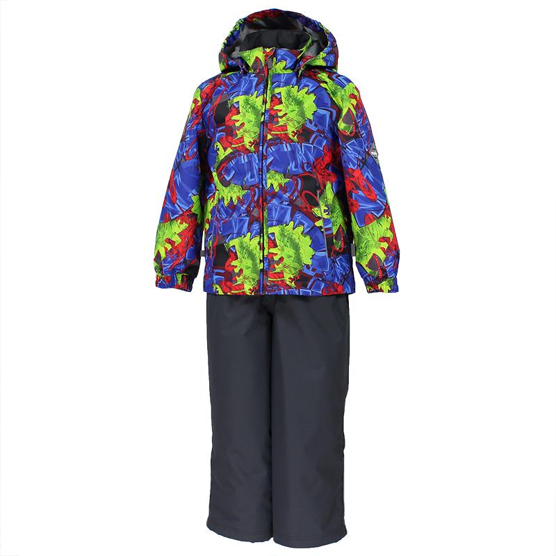 Комплект верхней одежды детский Huppa Yoko 1: куртка, брюки, цвет: синий, темно-серый. 41190114-82235. Размер 12241190114-82235Комплект верхней одежды детский Huppa Yoko 1 состоит из курткии брюк. Функциональная куртка изготовлена из износостойкого, дышащего,водо- и ветронепроницаемого материала с водо- и грязеотталкивающейповерхностью. Все швы проклеены, водонепроницаемы. Съемный капюшонзащищает от холодного ветра. В брюках имеется ширинка на молнии ирегулируемые эластичные подтяжки. Комплект снабжен светоотражателями. Вкуртке предусмотрены два кармана на молнии.Полная функциональность: отповседневного комфорта до экстремальных условий. Водо- и воздухонепроницаемость 10 000. Утеплитель: куртка 100 г, брюки 40 г. Отличительные особенности: швы проклеены, отстегивающийся капюшон, капюшон на резинке, манжеты рукавов на резинке, регулируемые низы, эластичный шнур с фиксатором, съемные резиновые подтяжки, Добавлены петли для подтяжек.