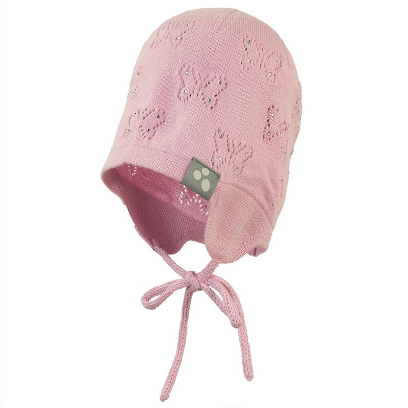 Шапка для девочки Huppa Brita, цвет: розовый. 80600000-70013. Размер S (47/49)80600000-70013Вязанная шапка BRITA. Состав: 60% хлопок. 40% акрил. Присутствуют светоотажательные детали.