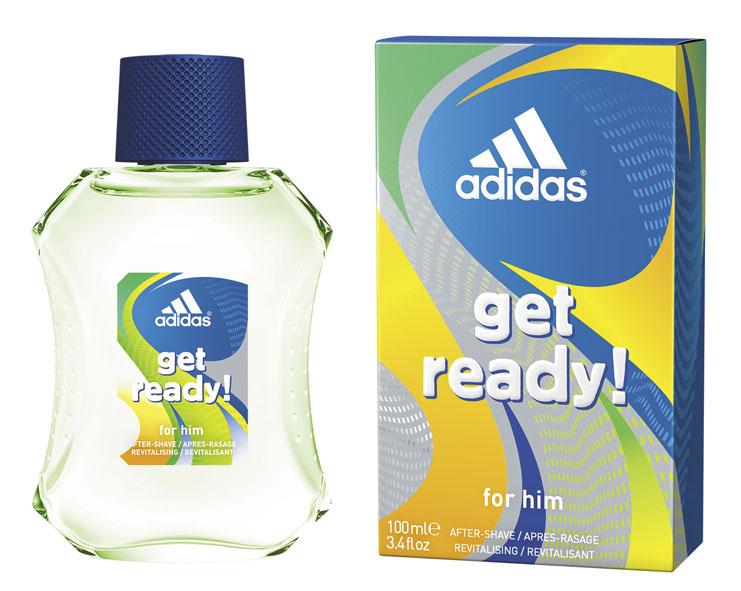 Adidas Лосьон после бритья Get Ready!, мужской, 100 мл лосьон после бритья adidas get ready 100 мл