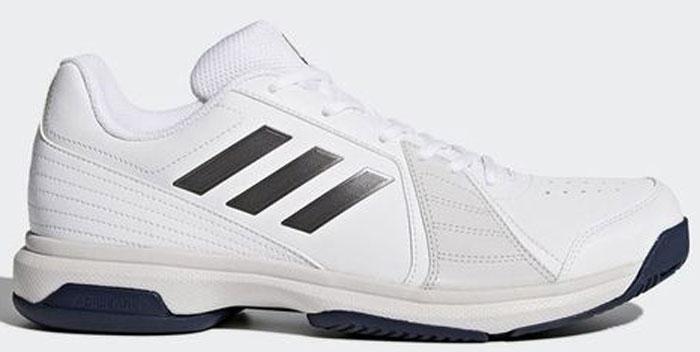 Кроссовки для тенниса мужские Adidas Approach, цвет: белый. BY1603. Размер 9,5 (42,5)BY1603Отрабатывай подачи с задней линии в этих легких теннисных кроссовках. Мягкий и прочный верх с перфорацией усиливает циркуляцию воздуха. Износостойкая подошва ADIWEAR™ обладает повышенной прочностью и выдерживает ежедневные тренировки.Прочный стабилизирующий верх из синтетических материалов