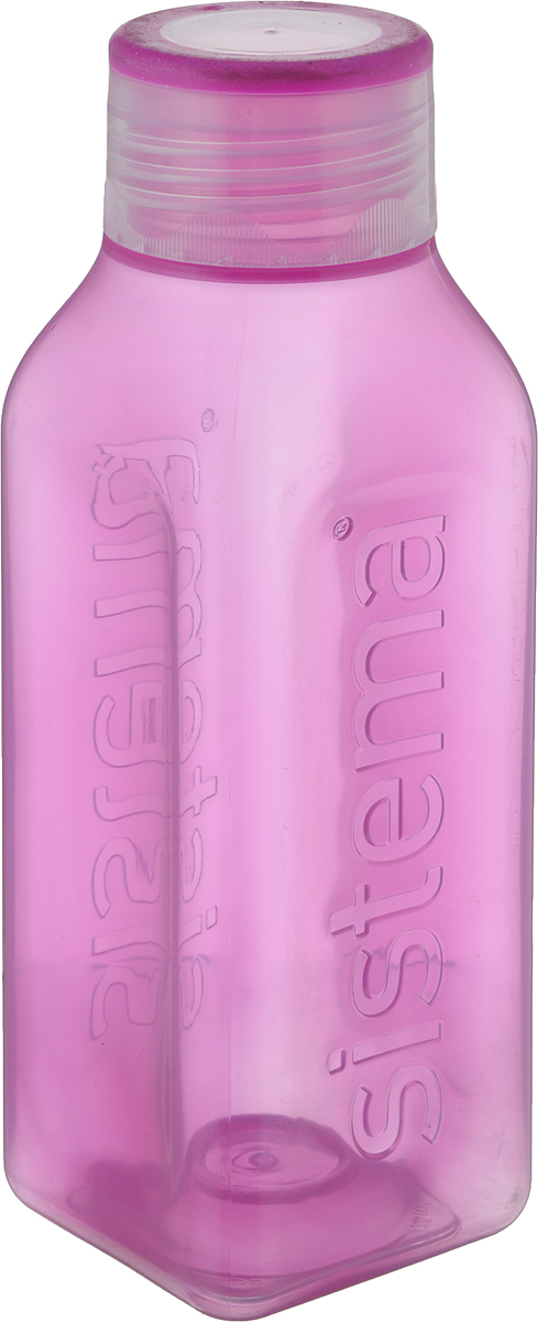 Бутылка для воды Sistema Hydrate, цвет: розовый, 475 мл. 870