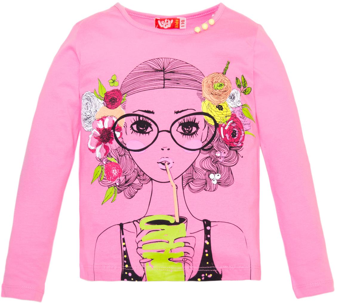Джемпер для девочки Lets Go, цвет: розовый. 6149. Размер 986149