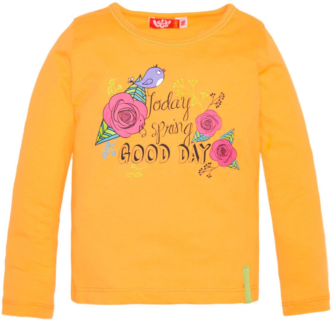 Джемпер для девочки Lets Go, цвет: оранжевый. 6150. Размер 1166150