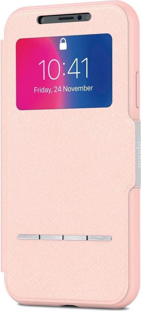 Moshi SenseCover чехол для iPhone X, Luna Pink чехол книжка moshi sensecover для apple iphone 6 plus 6s plus