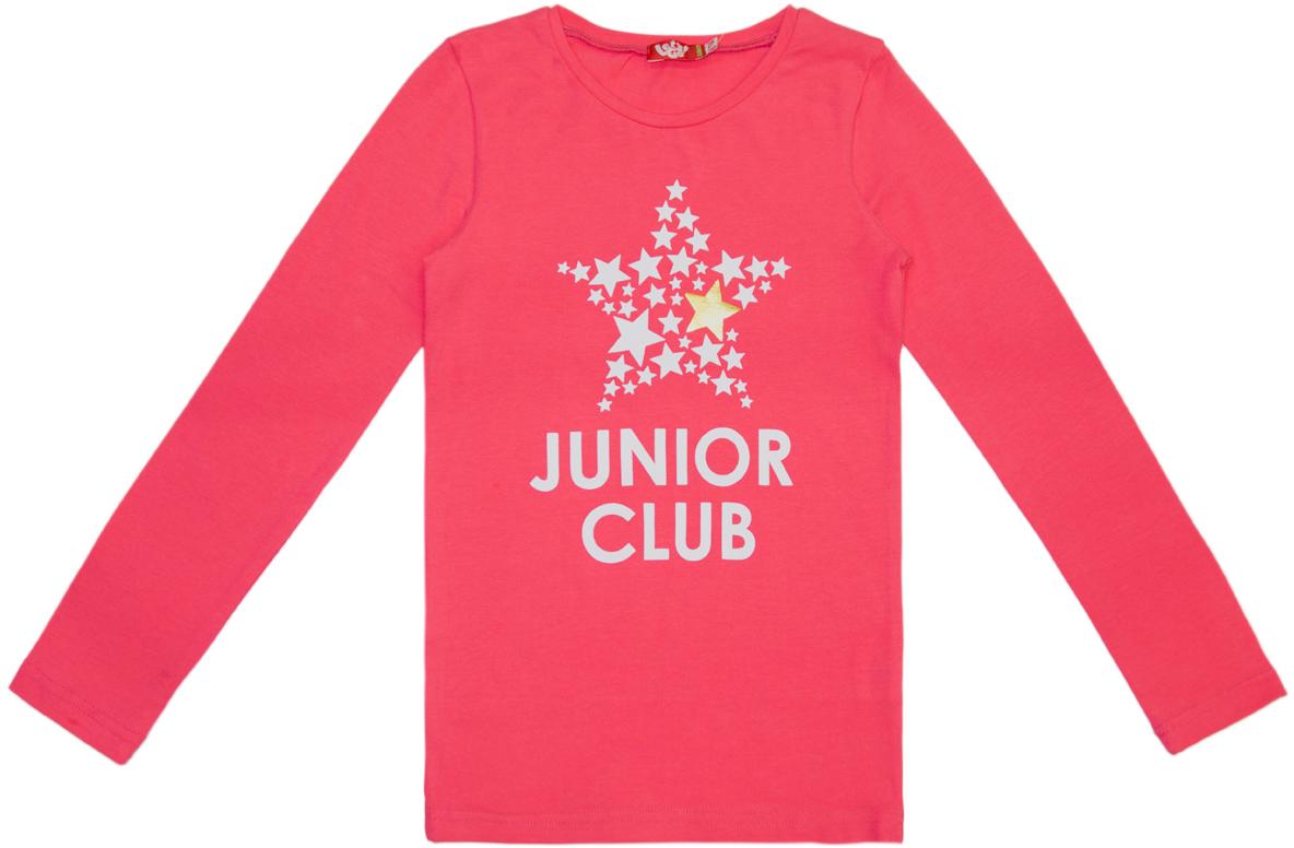 Джемпер для девочки Lets Go, цвет: ярко-розовый. 6156. Размер 1586156
