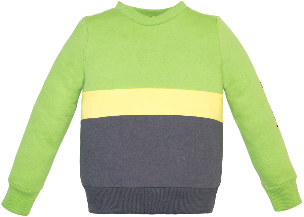 Джемпер для мальчика Lets Go, цвет: зеленый, серый. 6238. Размер 1226238