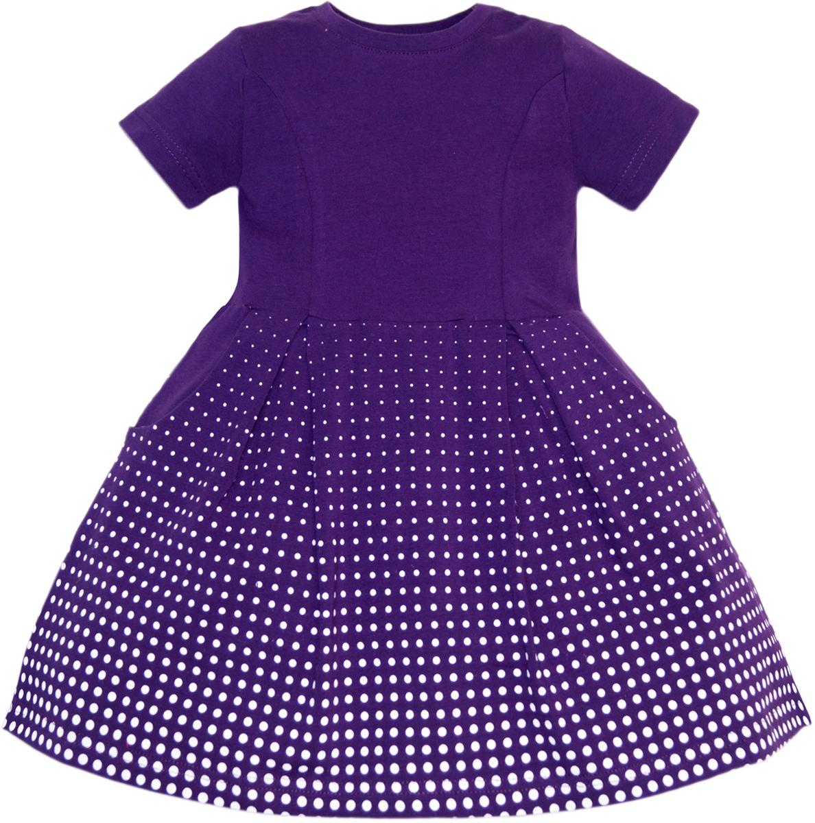 Платье для девочки Let's Go, цвет: фиолетовый. 8126. Размер 122, Одежда для девочек  - купить со скидкой