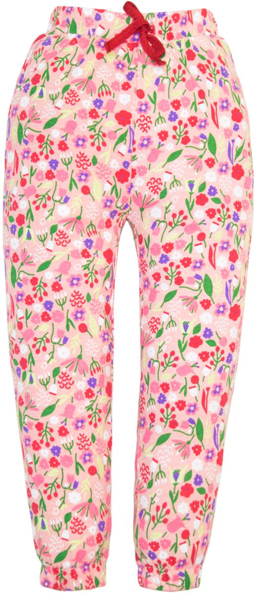 Брюки для девочки Lets Go, цвет: бирюзовый, розовый. 10164. Размер 11010164
