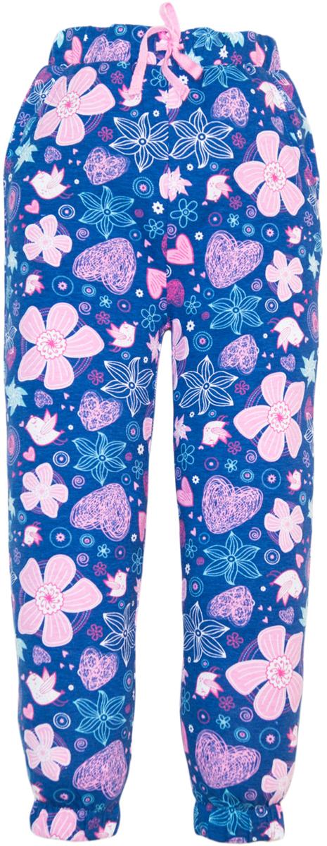 Брюки для девочки Lets Go, цвет: темно-синий. 10164. Размер 11610164Стильные брюки для девочки идеально подойдут вашей маленькой принцессе для отдыха и прогулок. Изготовленные из качественного материала, они необычайно мягкие и приятные на ощупь, не сковывают движения малышки и позволяют коже дышать, не раздражают даже самую нежную и чувствительную кожу ребенка, обеспечивая ему наибольший комфорт. Брюки на талии имеют широкую эластичную резинку со шнурком, не сдавливающую животик. Штанины понизу дополнены эластичными манжетами.Оригинальный современный дизайн и модная расцветка делают эти брюки модным и стильным предметом детского гардероба. В них ваша малышка всегда будет в центре внимания!