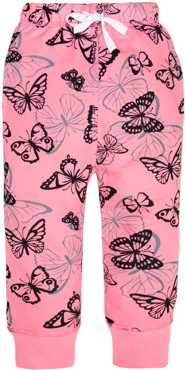 Брюки для девочки Lets Go, цвет: нежно-розовый. 10165. Размер 7410165