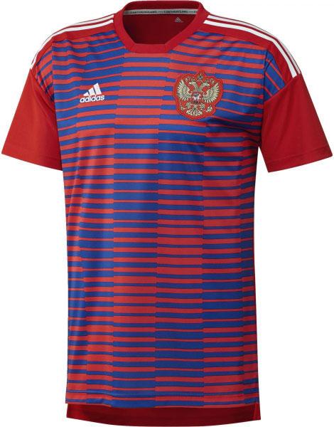 Футболка мужская Adidas Rfu H Preshi, цвет: красный, синий. CF1555. Размер S (44/46) футболка мужская adidas rfu 3s tee цвет красный cd5275 размер s 44 46