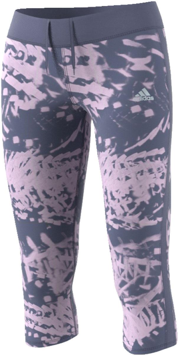 Леггинсы женские Adidas Rs 3/4 Q2 Ti W, цвет: серый, розовый. CF1029. Размер S (42/44)CF1029