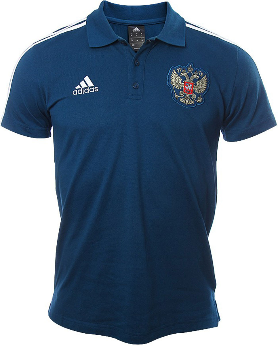 Поло мужское Adidas Rfu 3s Polo, цвет: синий. CF0573. Размер S (44/46) original new arrival 2017 adidas performance mv pt ch ft 3s women s pants sportswear