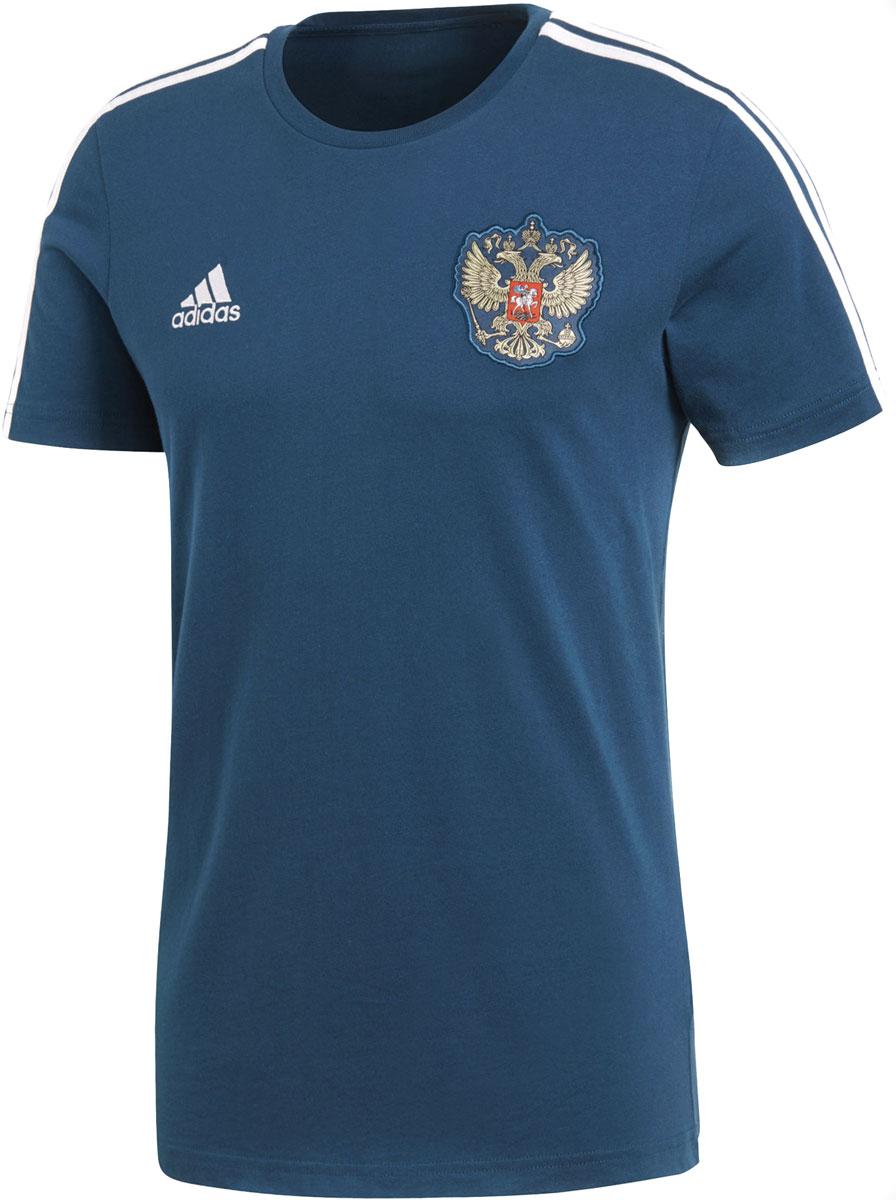 Футболка мужская Adidas Rfu 3s Tee, цвет: синий. CF0571. Размер L (52/54) футболка мужская adidas rfu 3s tee цвет красный cd5275 размер s 44 46