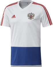 Футболка мужская Adidas Rfu Tr Jsy, цвет: белый, синий, красный. CE8774. Размер XXL (60/62) big discount free shipping 150lm w 3pcs ufo high bay light 150w replacement 600hps mh ce rohs 3 years warranty