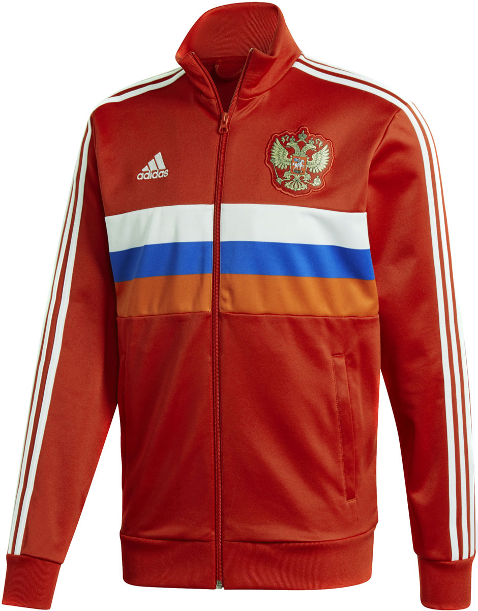 Олимпийка мужская Adidas Rfu 3s Trk Top, цвет: красный, белый. CF0569. Размер L (52/54) футболка мужская adidas rfu 3s tee цвет красный cd5275 размер s 44 46
