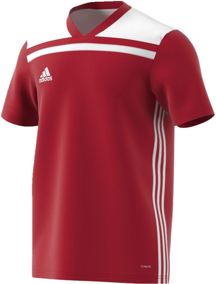 Футболка мужская Adidas Regista 18 Jsy, цвет: красный, белый. CE1713. Размер L (52/54)CE1713Футболка, которая пригодится на любой тренировке. Легкий материал с технологией Climalite эффективно отводит излишки влаги, обеспечивая комфорт. Логотип adidas на груди. adidas заботится об окружающей среде при производстве товаров. Эта модель выполнена из переработанного полиэстера с целью сохранения ресурсов и уменьшения вредных выбросов в атмосферу.Технология Climalite отводит излишки влаги, обеспечивая комфортное ощущение сухости в любых условияхРифленый V-образный воротТекстурная ткань меланж на плечахТермологотип adidas на грудиКлассический крой с более широкой основной частью; прямой силуэт