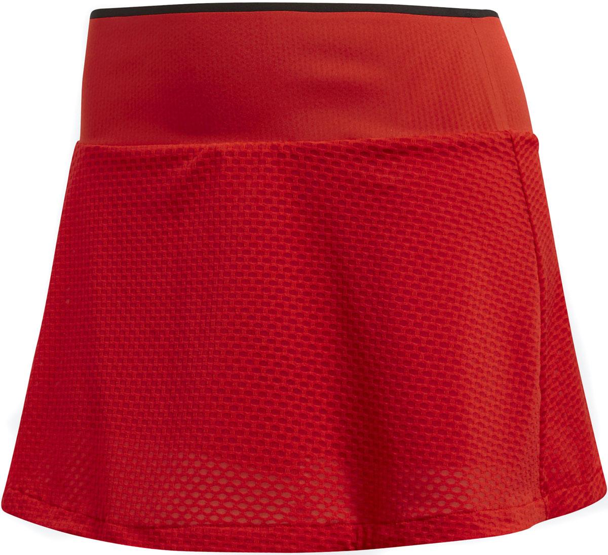 Юбка женская Adidas Bcade Skirt, цвет: красный. CE1452. Размер L (48/50)CE1452В этой теннисной юбке ты будешь готова к самым напряженным моментам матча. Быстросохнущая дышащая ткань с технологией Climacool сохраняет приятное ощущение прохлады и свежести и защищает от УФ-лучей. Вшитые шорты для дополнительного комфорта.Технология Climacool помогает сохранить прохладу и комфорт даже в жаркую погодуШирокий эластичный поясВшитые шортыДышащий легкий сетчатый материалЗащита от УФ-лучей 50+Логотип adidas у нижнего края; ярлычок Barricade сзади на бедреКлассический крой: баланс свободы движений и спортивной функциональности