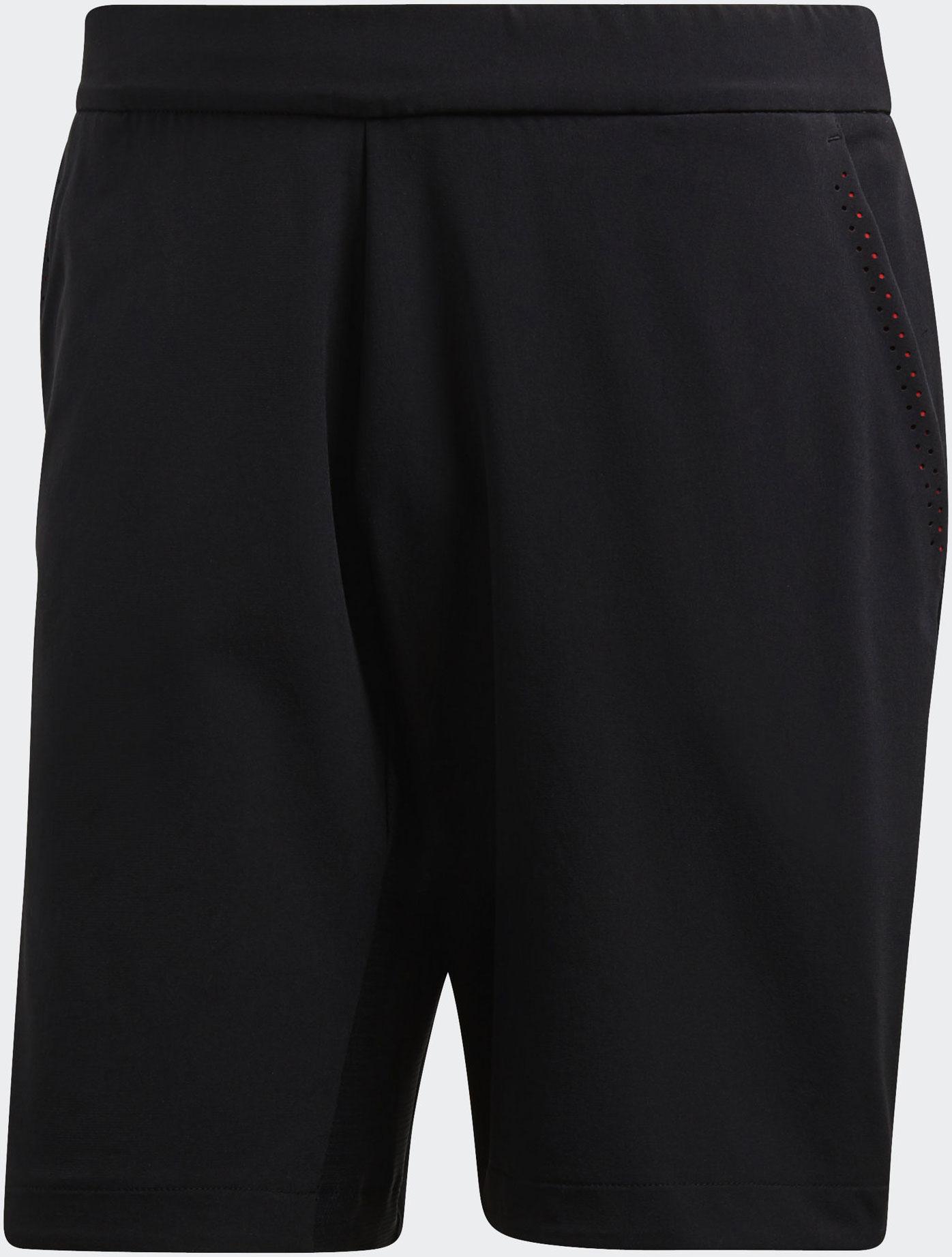 Шорты мужские Adidas Bcade Bermuda, цвет: черный. CE1392. Размер XXL (60/62)CE1392Мужские теннисные шорты от Adidas прекрасно подойдут для жаркой погоды. Эти бермуды выбирают профессиональные спортсмены. Сетчатая вставка обеспечивает циркуляцию воздуха. Быстросохнущая дышащая ткань с технологией Climacool сохраняет приятное ощущение прохлады и свежести и защищает от УФ-лучей. Боковые прорезные карманы позволяют носить с собой необходимые мелочи. Широкий эластичный пояс на регулируемых завязках-шнурках с зигзагообразной линией дарит комфорт при носке.