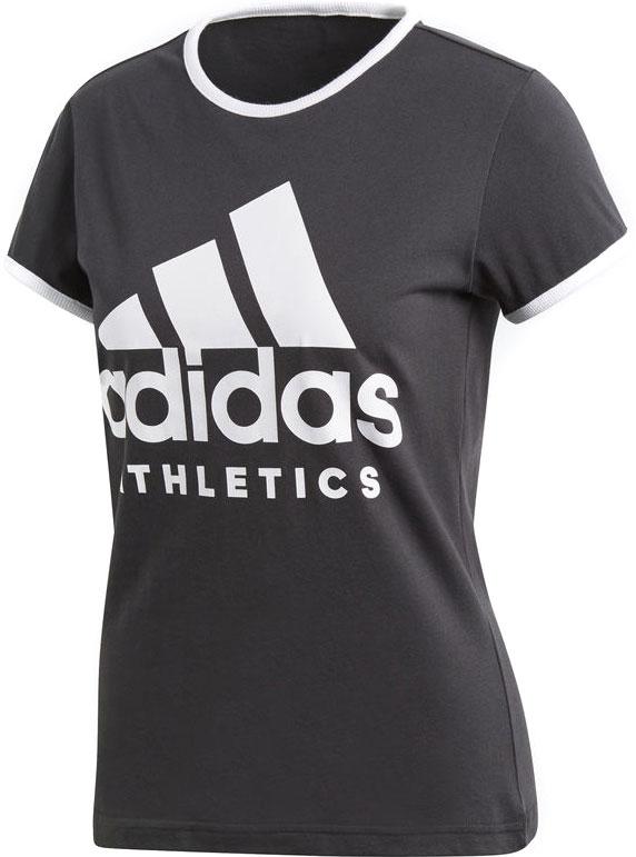 Футболка женская Adidas W Sid Slim Tee, цвет: серый, белый. CD7788. Размер M (46/48)CD7788Женская футболка с большим принтом в стиле adidas. Приталенный крой и приятный к телу хлопковый трикотаж.Рифленый круглый воротУзкие рифленые манжетыКонтрастный логотип adidas Athletics на грудиМы поддерживаем инициативу Better Cotton по совершенствованию хлопководческих хозяйств по всему мируПриталенный крой, плотнее облегающий руки и корпус
