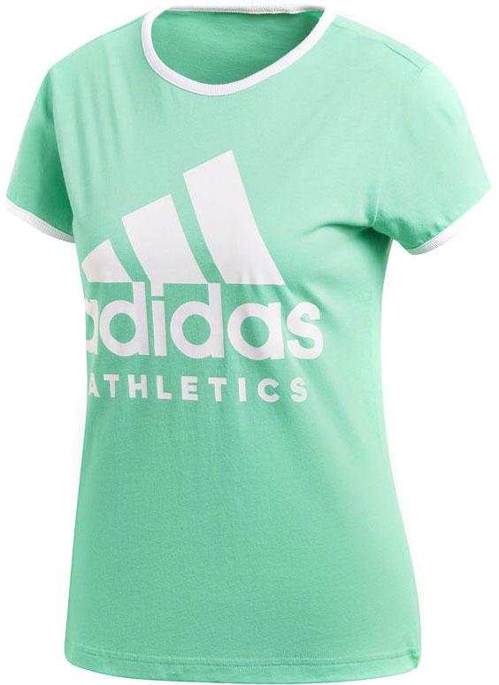 Футболка женская Adidas W Sid Slim Tee, цвет: зеленый. CD7790. Размер XS (40/42) футболка женская adidas ess 3s slim tee цвет серый розовый br2454 размер xs 40 42