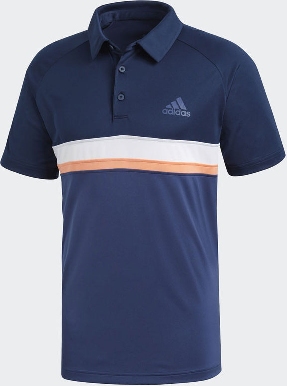 Поло мужское Adidas Club C/B Polo, цвет: темно-синий. CE0401. Размер M (48/50)CE0401Эта мужское теннисное поло имеет классический дизайн и стильные контрастные полоски.