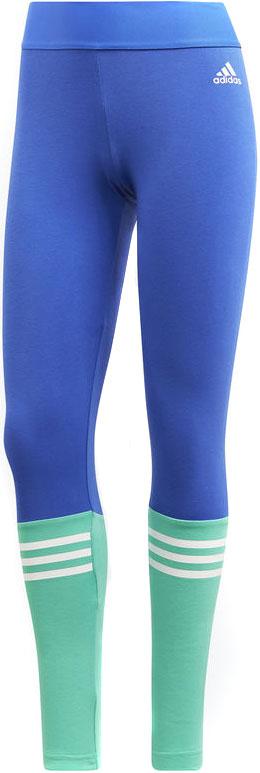 Тайтсы женские Adidas W Sid Tight, цвет: синий, зеленый. CD7776. Размер XXS (38)