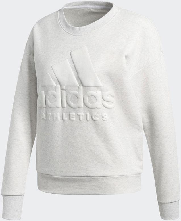 Свитшот женский Adidas W Sid Sw, цвет: белый. CD7773. Размер XXL (56/58)