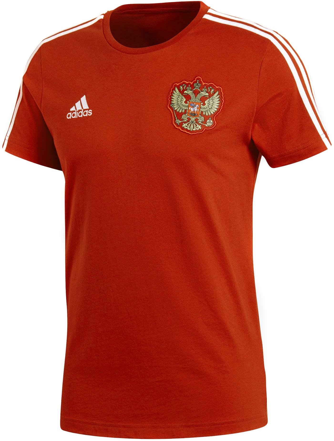 Футболка мужская Adidas Rfu 3s Tee, цвет: красный. CD5275. Размер M (48/50)CD5275Динамичная игра и выверенные по времени голы. Эта мужская футболка создана под вдохновением от неумолимого драйва сборной России по футболу. Рифленый круглый ворот и три полоски на рукавах. Нашивка с эмблемой национальной команды и логотип adidas дополняют образ. Классический крой, более широкий в области корпуса.Рифленый круглый воротВнутренний шов ворота обработан тесьмойГерб России на грудиТри полоски на рукавахЛоготип adidas на грудиМы поддерживаем инициативу Better Cotton по совершенствованию хлопководческих хозяйств по всему мируКлассический крой с более широкой основной частью; прямой силуэт